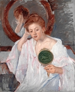 Denise at Her Dressing Table painting reproduction, Mary Cassatt