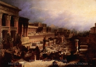 Departure of the Israelites painting reproduction, David Roberts