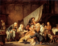 Devozione Filiale painting reproduction, Jean Baptiste Greuze
