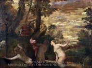 Diana and Actaeon painting reproduction, Paolo Veronese