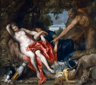 Diana and Endymion Surprised by a Satyr painting reproduction, Sir Anthony Van Dyck