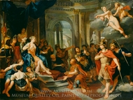 Dido and Aeneas painting reproduction, Nicolas Verkolye