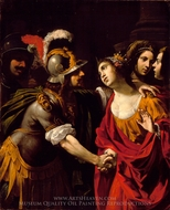 Dido and Aeneas painting reproduction, Rutilio Manetti
