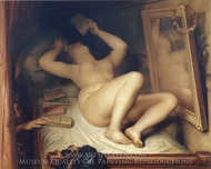 Die Romanleserin painting reproduction, Antoine Wiertz