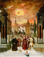 Dionysius the Areopagite Converting the Pagan Philosophers painting reproduction, Antoine Caron