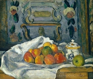 Dish of Apples painting reproduction, Paul Cezanne