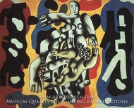 Divers on a Yellow Background by Fernand Leger