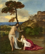 Do Not Touch Me (Noli me Tangere) painting reproduction, Titian