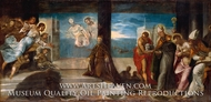 Doge Alvise Mocenigo Presented to the Redeemer painting reproduction, Jacopo Tintoretto