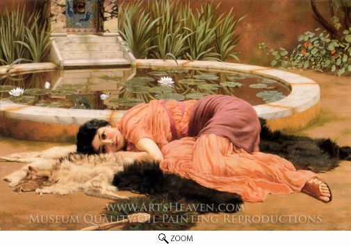 Painting Reproduction of Dolce Far Niente, John William Godward