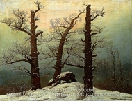 Dolmen in the Snow by Caspar David Friedrich
