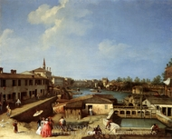 Dolo on the Brenta painting reproduction, Canaletto