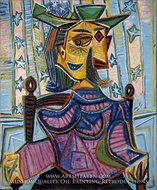 Dora Maar in an Armchair by Pablo Picasso (inspired by)