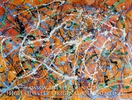 Drip Paint Abstract 1 (Pollock inspired) painting reproduction, Various Artist