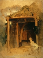 Duchess of Bedford's Hut, Glenfeshie painting reproduction, Sir Edwin Landseer