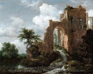 Dutch Entrance Gate of the Castle of Brederode painting reproduction, Jacob Van Ruisdael
