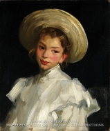 Dutch Girl in White painting reproduction, Robert Henri