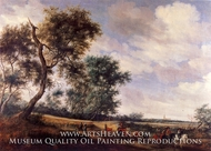 Dutch Landscape with Highwaymen by Salomon Van Ruysdael