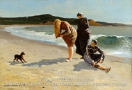 Eagle Head, Manchester, Massachusetts (High Tide) painting reproduction, Winslow Homer