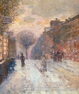 Early Evening, After Snowfall by Childe Hassam