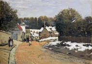 Early Snow at Louveciennes painting reproduction, Alfred Sisley