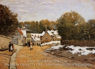 Early Snow at Louveciennes by Alfred Sisley