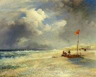 East Hampton Beach by Thomas Moran