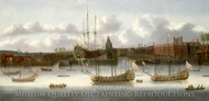 East India Company's yard at Deptford painting reproduction, J. Browne