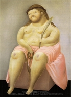 Ecce Homo painting reproduction, Fernando Botero