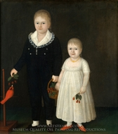 Edward and Sarah Rutter painting reproduction, Joshua Johnson