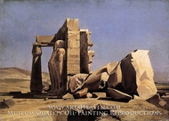 Egyptian Temple painting reproduction, Charles Gleyre