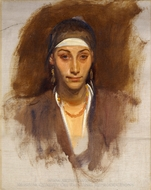Egyptian Woman with Earrings painting reproduction, John Singer Sargent