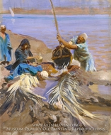 Egyptians Raising Water from the Nile painting reproduction, John Singer Sargent