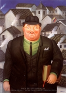 El Abogado painting reproduction, Fernando Botero