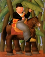 El Presidente painting reproduction, Fernando Botero