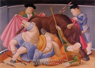 El Quite painting reproduction, Fernando Botero