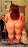 El Taller painting reproduction, Fernando Botero
