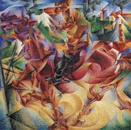 Elasticity painting reproduction, Umberto Boccioni