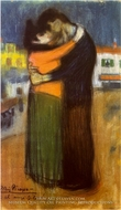 Embrace in the Street (Les Amants Dans La Rue) by Pablo Picasso (inspired by)