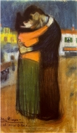 Embrace in the Street (Les Amants Dans La Rue) painting reproduction, Pablo Picasso (inspired by)