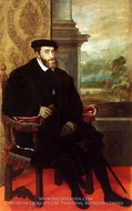 Emperor Charles painting reproduction, Titian