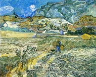 Enclosed Field with Peasant by Vincent Van Gogh