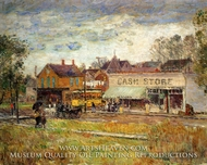 End of the Trolley Line, Oak Park, Illinois by Childe Hassam
