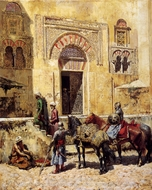 Entering the Mosque painting reproduction, Edwin Lord Weeks