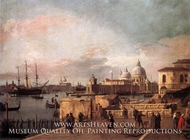Entrance of the Grand Canal: from the West End of the Molo painting reproduction, Canaletto