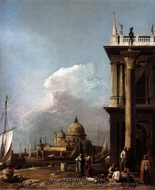 Entrance to the Grand Canal: from the Piazzetta painting reproduction, Canaletto