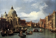 Entrance to the Grand Canal: Looking West painting reproduction, Canaletto