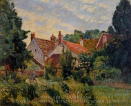 Epinay-sur-Orge painting reproduction, Armand Guillaumin