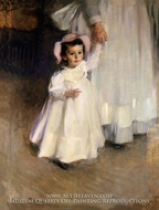 Ernesta (Child with Nurse) painting reproduction, Cecilia Beaux