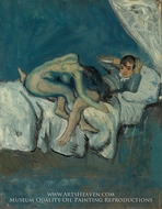 Erotic Scene (La Douleur) by Pablo Picasso (inspired by)